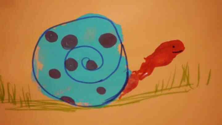 Cómo Hacer Un Dibujo De Un Caracol Con Su Huella De La Mano