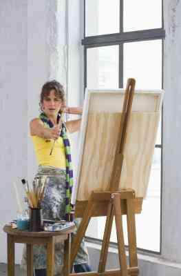 Cómo volver a pintar Ya Utilizado Lienzo
