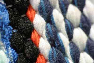 Cómo Hacer una Alfombra de Trapo De las rayas de los pantalones Vaqueros del Dril de algodón
