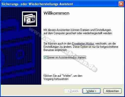 Crear una Copia de seguridad con Windows XP