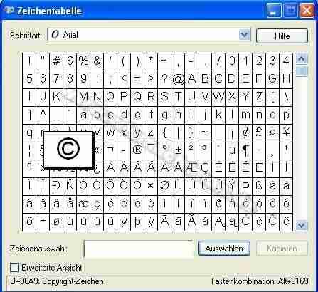 Caracteres especiales en el teclado