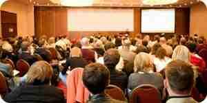 Iniciar una conferencia de alquiler de la sala de negocios
