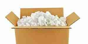 El uso de espuma de materiales de embalaje