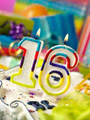 Sweet 16 Velas de Cumpleaños