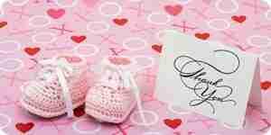 Escribir baby shower tarjetas de agradecimiento