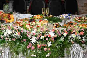 la recepción de la boda de los alimentos