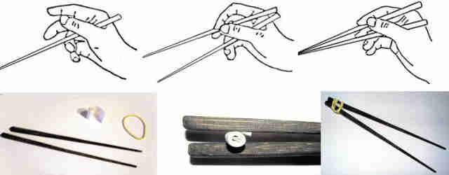 Usar los palillos chinos