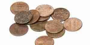 Limpiar una moneda de un centavo
