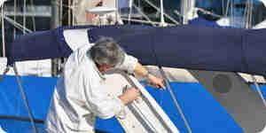 La pintura de botes de aluminio