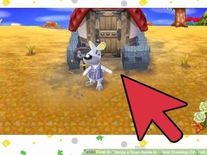Imagen titulada Cambiar el Nombre del Pueblo en Animal Crossing_ City Folk Paso 12