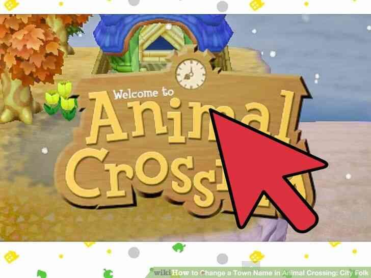 Imagen titulada Cambiar el Nombre del Pueblo en Animal Crossing_ City Folk Paso 14