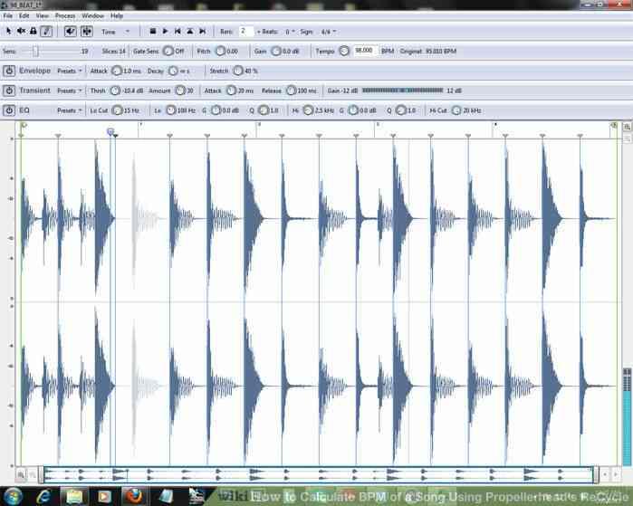 Imagen titulada Calcular los BPM de una Canción a través de Propellerhead de Reciclaje Paso 1