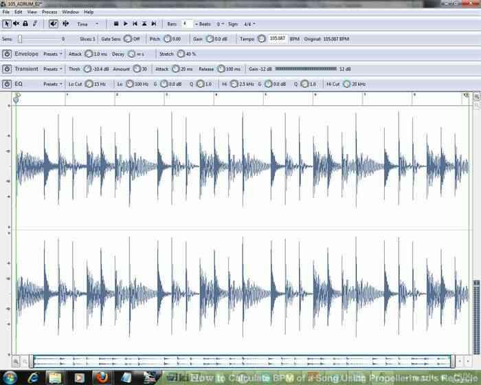 Imagen titulada Calcular los BPM de una Canción a través de Propellerhead de Reciclaje Paso 2