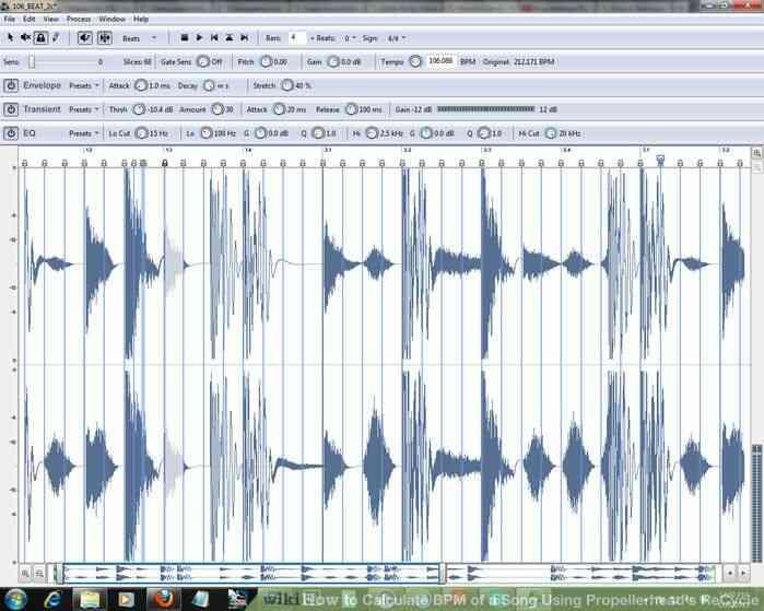 Imagen titulada Calcular los BPM de una Canción a través de Propellerhead de Reciclaje Paso 4