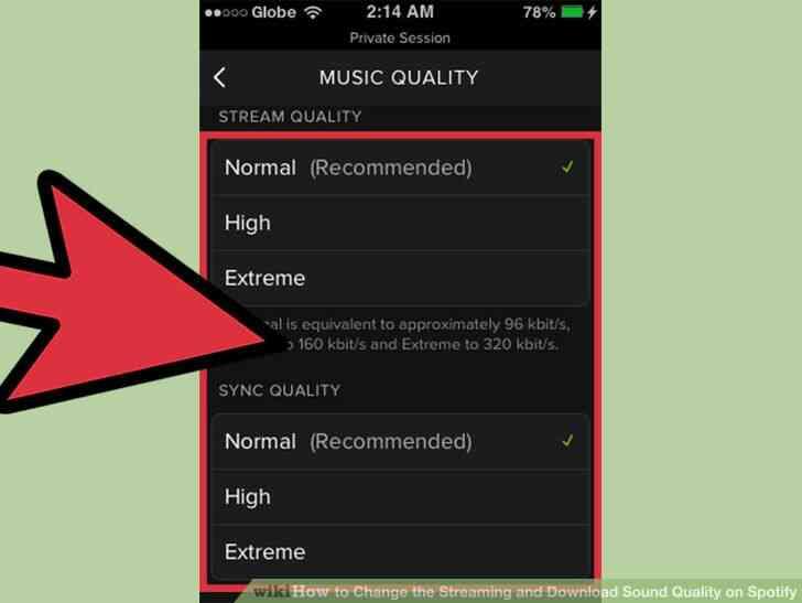 Imagen titulada Cambiar el Streaming y la Descarga de la Calidad de Sonido en Spotify Paso 9