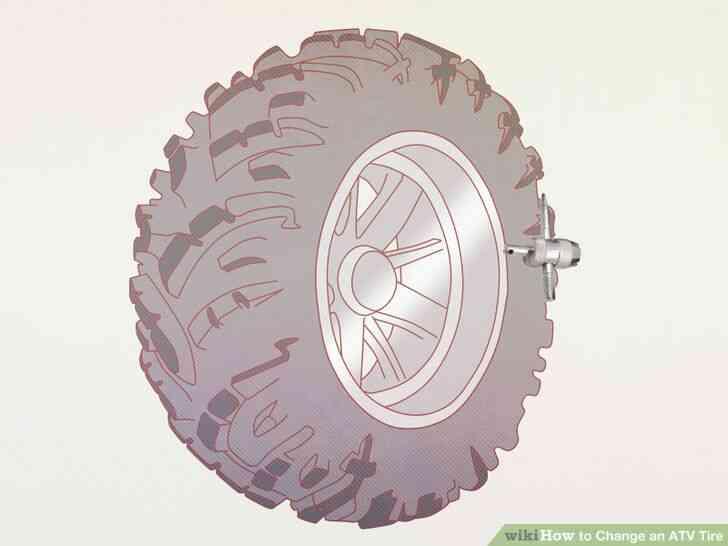 Imagen titulada Cambiar un Neumático de ATV Paso 1