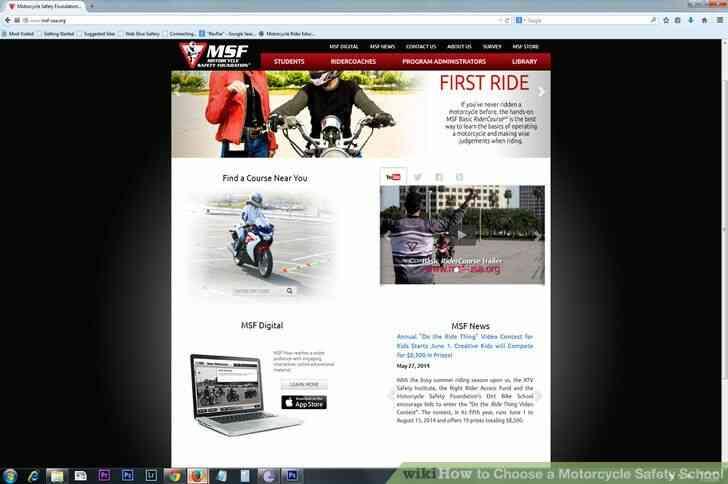 Imagen titulada Elegir una Motocicleta de Seguridad de la Escuela Paso 4