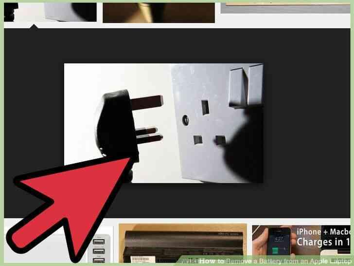 Imagen titulada Quitar la Batería de un Portátil de Apple el Paso 1