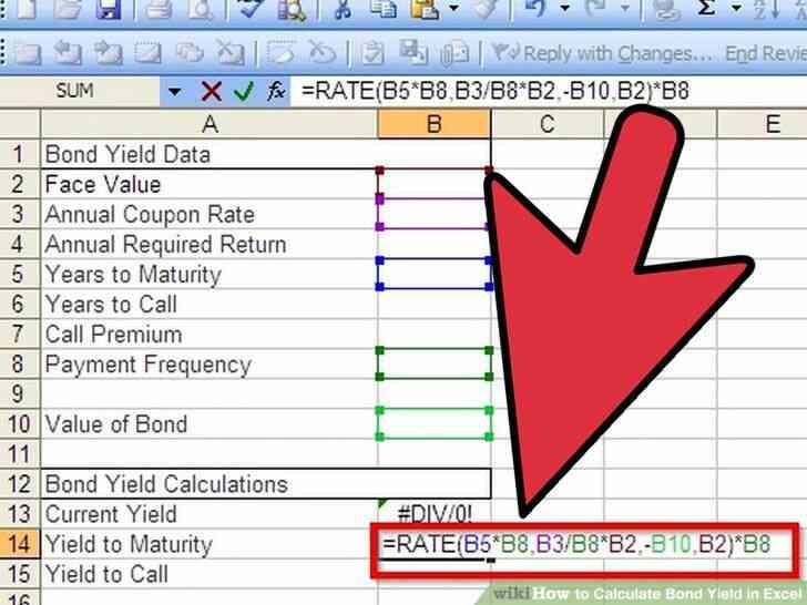 Imagen titulada Calcular el Rendimiento de los Bonos en Excel Paso 5