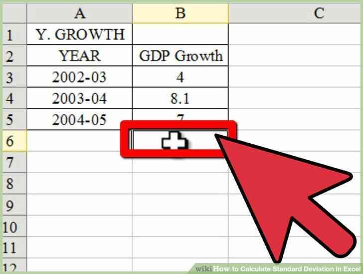 Imagen titulada Calcular la Desviación Estándar en Excel Paso 6