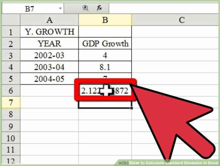 Imagen titulada Calcular la Desviación Estándar en Excel Paso 10