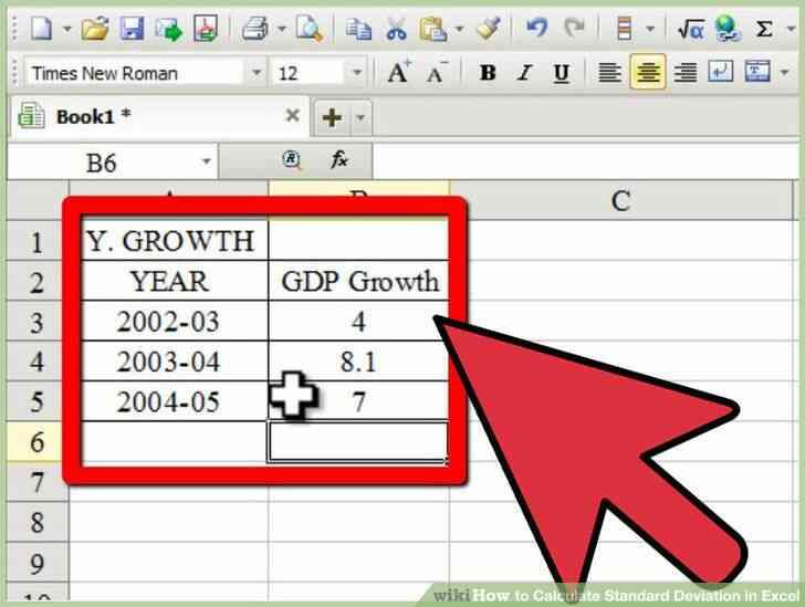 Imagen titulada Calcular la Desviación Estándar en Excel Paso 4