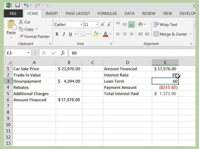 Cómo Calcular un Préstamo de Coche en Excel