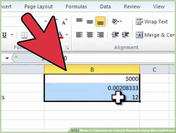 Imagen titulada Calcular un Pago de Intereses Utilizando Microsoft Excel Paso 2