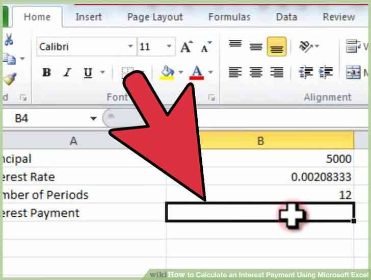 Imagen titulada Calcular un Pago de Intereses Utilizando Microsoft Excel Paso 3