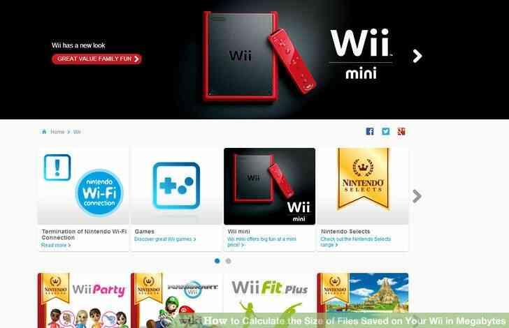 Imagen titulada Calcular el Tamaño de los Archivos Guardados en Tu Wii en Megabytes Paso 1