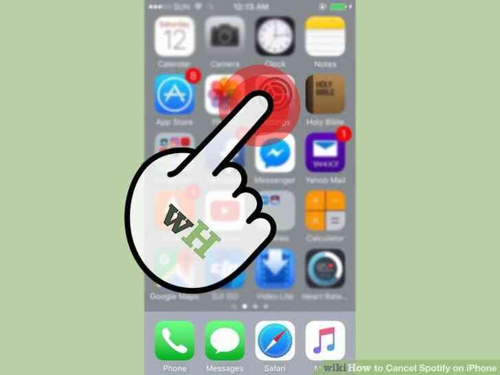 Imagen titulada Cancelar Spotify en el iPhone Paso 1
