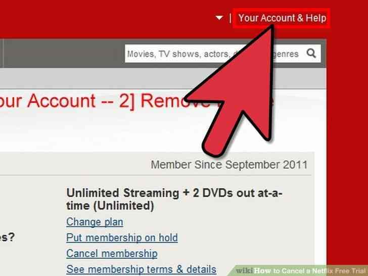 Imagen titulada Cancelar una cuenta Netflix Gratis de Prueba Paso 4