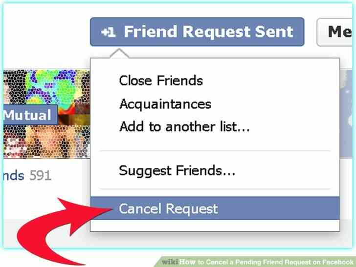 Imagen titulada Cancelar Pendiente una Solicitud de amistad en Facebook Paso 2