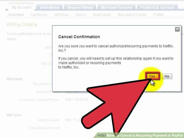 Imagen titulada Cancelar un Pago Recurrente en PayPal Paso 6