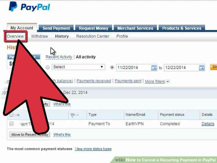 Imagen titulada Cancelar un Pago Recurrente en PayPal Paso 8