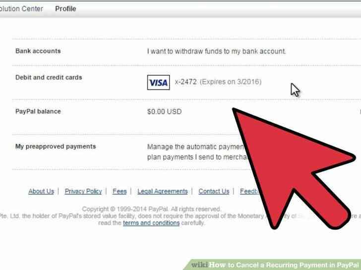 Imagen titulada Cancelar un Pago Recurrente en PayPal Paso 4