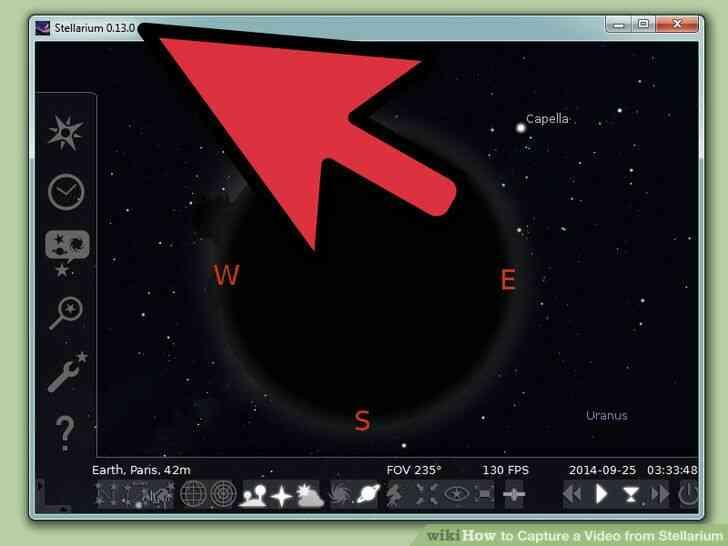 Imagen titulada Capturar un Vídeo de Stellarium Paso 2