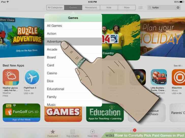 Imagen titulada Cuidadosamente Elegir los Juegos de Pago en el iPad Paso 2