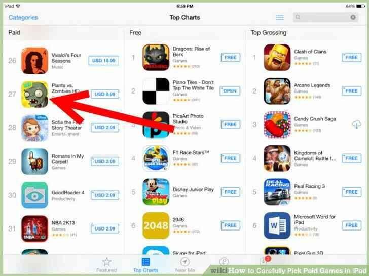 Imagen titulada Cuidadosamente Elegir los Juegos de Pago en el iPad Paso 3