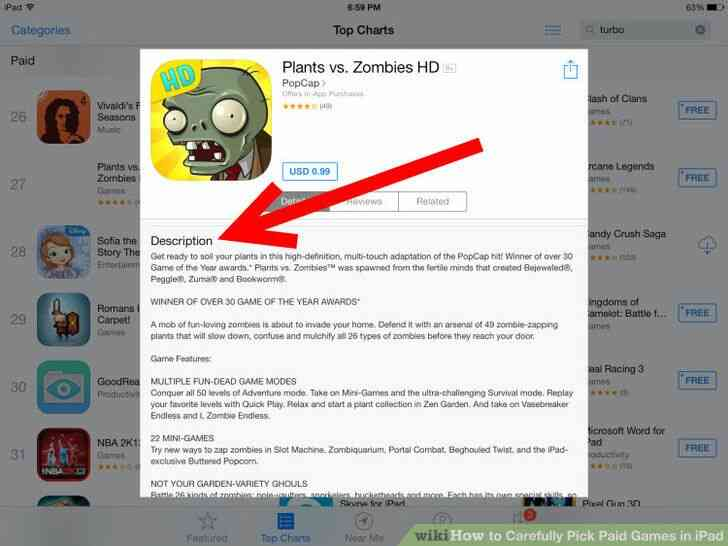 Imagen titulada Cuidadosamente Elegir los Juegos de Pago en el iPad Paso 4