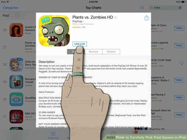 Imagen titulada Cuidadosamente Elegir los Juegos de Pago en el iPad Paso 5