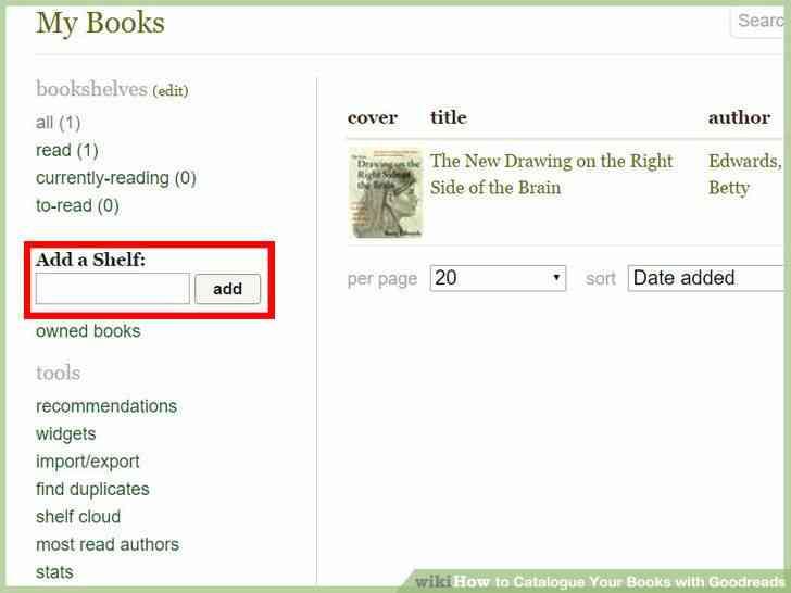 Image titulado Catálogo de Sus Libros con Goodreads Paso 5