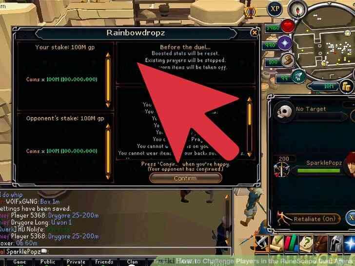 Imagen titulada Desafiar a los Jugadores en el RuneScape Duelo de la Arena Paso 6