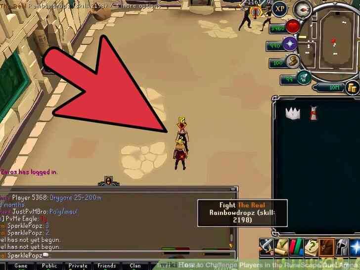 Imagen titulada Desafiar a los Jugadores en el RuneScape Duelo de la Arena Paso 9