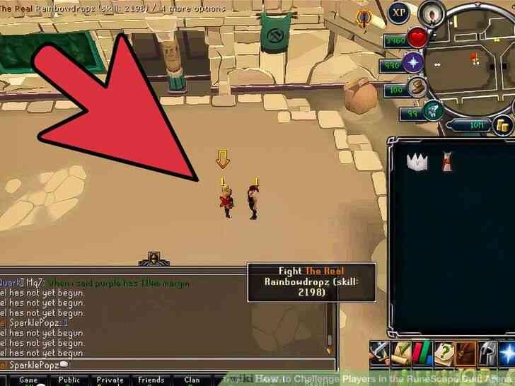 Imagen titulada Desafiar a los Jugadores en el RuneScape Duelo de la Arena Paso 3