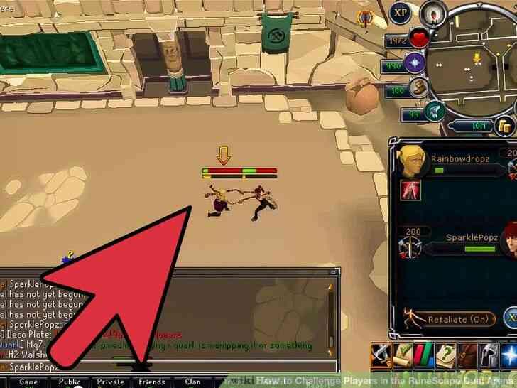 Imagen titulada Desafiar a los Jugadores en el RuneScape Duelo de la Arena Paso 4