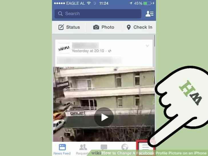 Imagen titulada Cambio de Un Facebook Foto de Perfil en un iPhone Paso 2