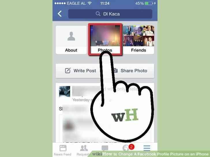 Imagen titulada Cambio de Un Facebook Foto de Perfil en un iPhone Paso 4