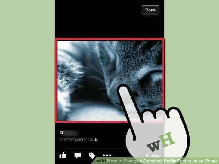 Imagen titulada Cambio de Un Facebook Foto de Perfil en un iPhone Paso 5