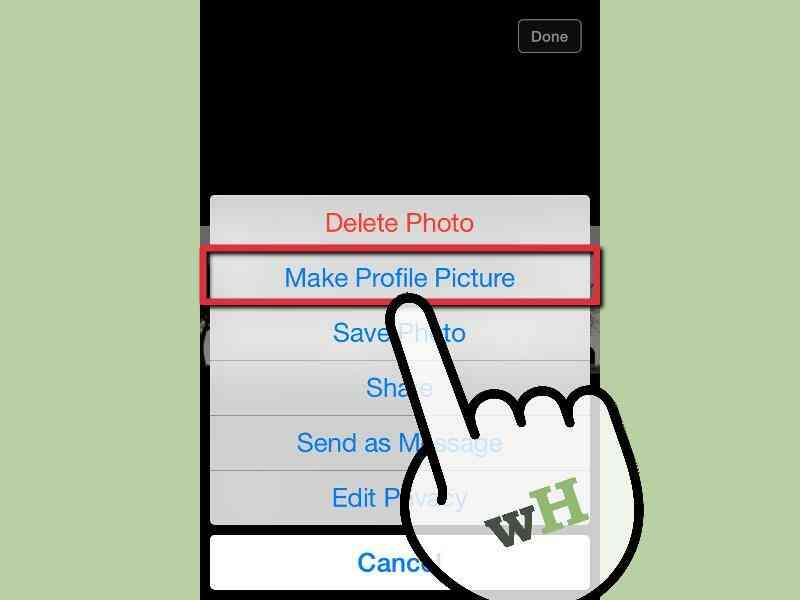 Cómo Cambiar Un Facebook Foto de Perfil en un iPhone